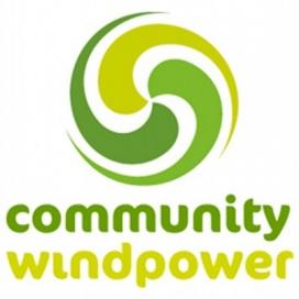 Logo de Community Windpower, principal cooperativa d'energia eòlica del Regne Unit.