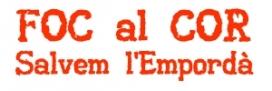 Logotip Campanya Foc al Cor, Salvem l'Empordà!