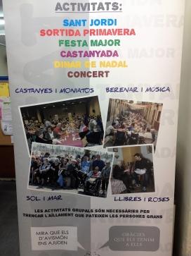 El cartell amb fotografies de les activitats que s'han organitzat des d'Avismón. Font: Júlia Hinojo