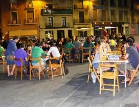 Sessió nocturna a la plaça major