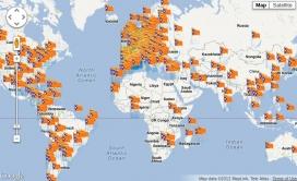 Mapa de la Diada virtual 2012
