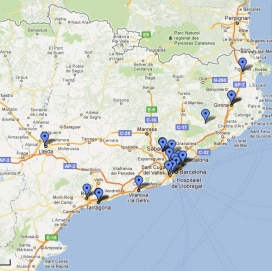 Mapa d'oficines de voluntariat de Catalunya
