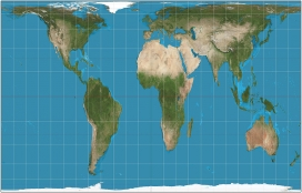 Mapa de Peters. Font: Wikipedia