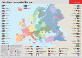 Mapa de les identitats nacionals d'Europa. Font: El CIEMEN