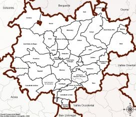 Mapa dels municipis que conformen el Bages (Font: Consell Comarcal del Bages)