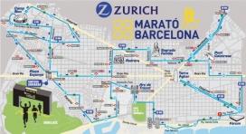 El mapa del recorregut de la Marató. Font: Zurich Marató de Barcelona.