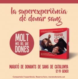 Cartell de La Marató de Donants de Sang.