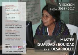 Difusió del Màster Igualtat i Equitat en el Desenvolupament