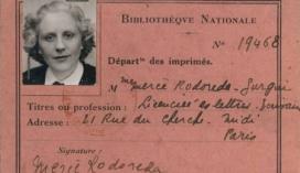 Passaport de Mercè Rodoreda
