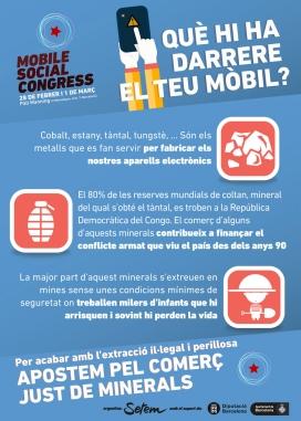 Infografia del Mobile Social Congress sobre l'extracció perillosa de minerals. Font: Setem Catalunya