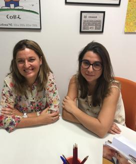 Montserrat Milian i Mireia Dolz de la Fundació Privada Nostre Senyora dels Àngels