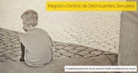 Portada del Registre de Delinqüents Sexuals. Font: web ministeri de justicia