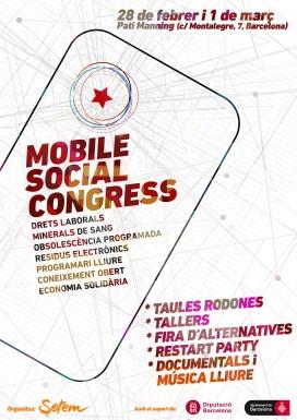 Cartell del Mobile Social Congress. Font: Setem