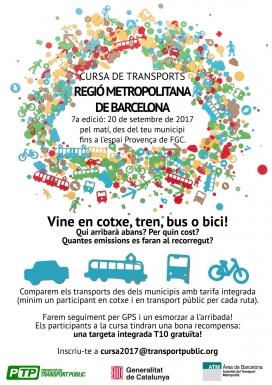 Cursa de transports a l'Àrea Metropolitana de Barcelona