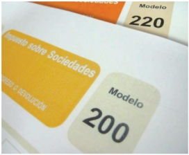 Model 200 de l'Impost de Societats. Font: Agència Tributària