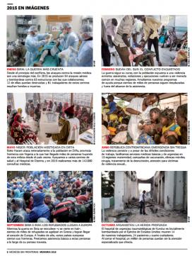 L'any en imatges. Memòria 2015 de Metges sense Fronteres. Font: MSF