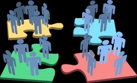 Persones que formen un puzzle. Font: web museandcompass.com