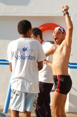 Nedador després de competir. Font: Special Olympics Vilanova i la Geltrú
