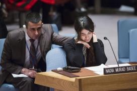 Nadia Murad al Consell de Seguretat de les Nacions Unides. Font: UN Photo/Amanda Voisard, Flickr