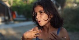 Nena refugiada de Síria explicant la seva història personal. Font: Youtube