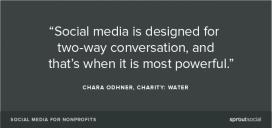 Les xarxes socials són més fortes quan són una conversa. Font: http://sproutsocial.com