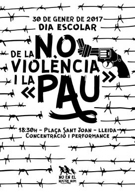 """Cartell acció reivindicativa - Fotot: Plataforma """"No en el nostre nom"""""""