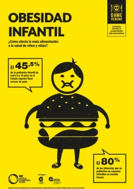 Dades relatives a l'obesitat infantil. Font: VSF Justícia Alimentària Global