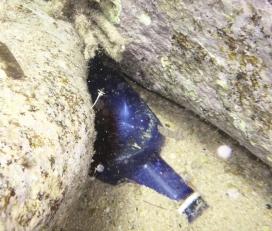 Residu depositat al fons marí (imatge: Claudia Vallbona de Xatrac )