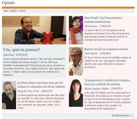 Imatge de la secció d'opinió de Xarxanet.org.