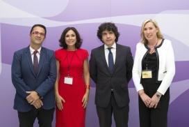 D'esquerra a dreta, Juan Carrión, Isabel Gemio, Mario Garcés i Cristina Fuster, representants de les organitzacions impulsores del projecte