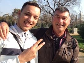 Mentoria Social amb l'Oualid i el Marc.    Font: Coordinadora de Mentoria Social