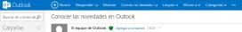 El nou menú de Outlook