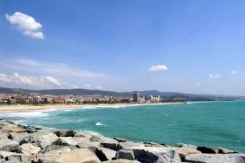 Vista panoràmica del litoral de Mataró
