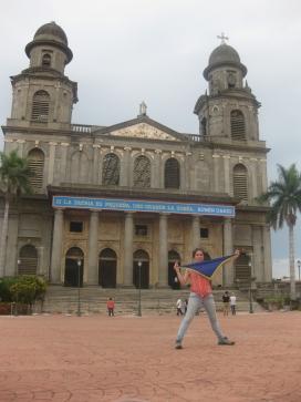 La catedral de Managua amb frase de Rubén Darío - Foto: AM