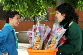 Parada de roses de Sant Jordi de l'AEiG Sant Nicolau. Foto: MEG