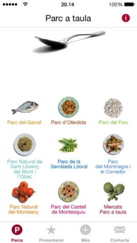 Menú de la app (imatge: diba.cat)