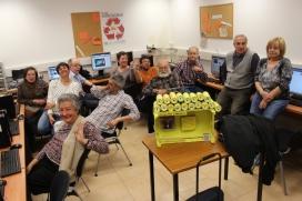 Participants de la Mediateca, amb la Sira a la part dreta