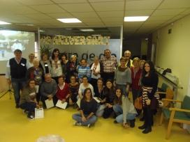 Imatge de grup de les persones voluntàries de la Fundació.