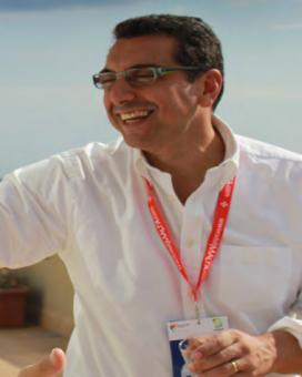 Pedro Aguilera en una de les trobades de Telecentre Europe