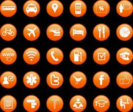 Icones que podem integrar a la comunicació de l'entitat. Font: Pixabay