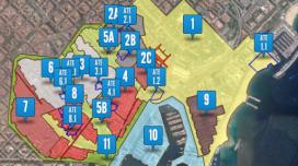 Plànol del Pla d'usos de Ciutat Vella