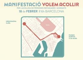 Recorregut de la manifestació del proper 18 de febrer (Font: casanostracasavostra.cat)