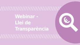 """Webinar """"Com complir amb la Llei de Transparència?"""". Font: El Teb"""
