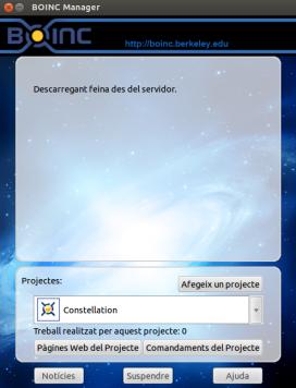 La plataforma BOINC en ple funcionament