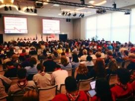 Caps (monitors i monitores) participant en l'European Scout Conference