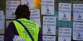 Cartells amb el que s'ha convertit en un lema de la lluita contra la pobresa energètica