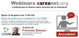 Webinar sobre Civi CRM amb Francesc Basses. Autor: El Teb
