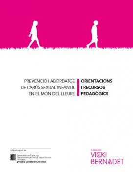 Portada de la publicació d'orientacions i recursos sobre 'Prevenció i abordatge de l'abús sexual infantil en el món del lleure'