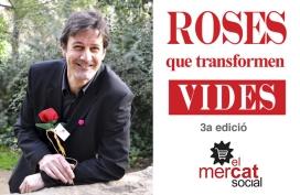 L'escriptor i periodista Adam Martín recolzant la campanya Roses que transformen vides