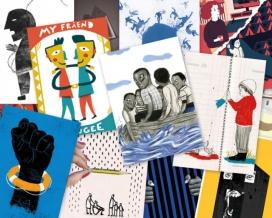 Postals de les obres presentades al Projecte Refugi